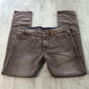 SUPERDRY Corporal Slim Colour Brown Jeans 32 x 30
